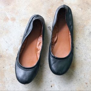 Lucky Brand | Black Leather Ballet Flats